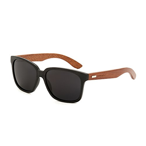 Sunny&Love Bamboo Wood Arms Classic Wayfarer - Sunglasses Vogue Cheap