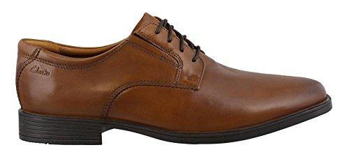 Mens Tilden Plain Derbys, Brown, 6 UK Clarks