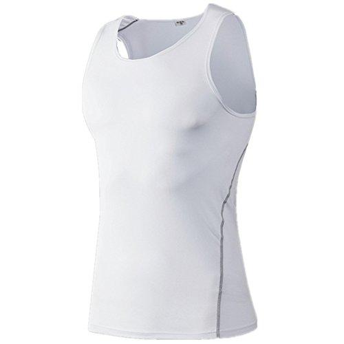 Da Shapewear Slim Compressione Uomo Serbatoio Contenitiva Intimo Magliette Aijump Effetto Vest Bianco Dimagrante Muscolare Sculpting Canotta Termica CwtqZvxZf