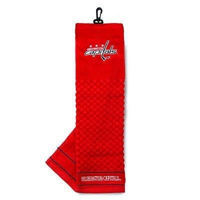 Team Golf NHL Washington Capitals Embroidered Golf Towel, Checkered Scrubber Design, Embroidered Logo
