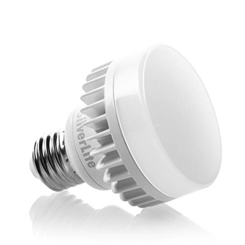 Silverlite 10w LED Mini PUCK E26 Medium Base Squat Bulb,100w incandescent Equivlent,50000hrs Life,1000LM,Soft White(2700K),120-277V,Suitable for Indoor and Outdoor Fixture,UL Wet Location listed