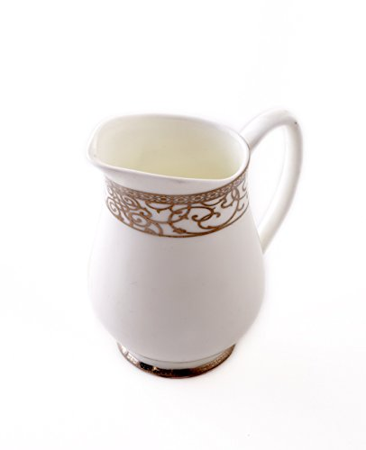 CRU by Darbie Angell Athena 24Kt Creamer, Gold/White