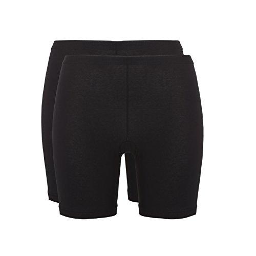 Ten Cate Damen Mieder-Hose mit langem Bein BASIC 2-Pack - Baumwoll-Mix (TC-30196) Black