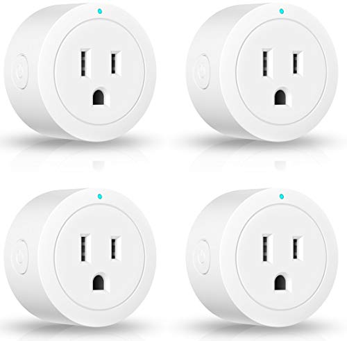 Smart plug Amysen : Smart Wifi Outlet, works with Alexa and Google Home, ETL Certified, Only Supports 2.4GHz Network, No Hub Required, Control Your Devices from Anywhere