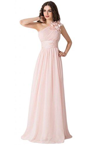 Graceful per Sunvary abito Rosa spalla Gowns inclinata da abiti damigella d'onore AdZpSqw