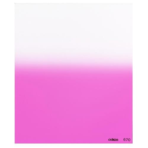 Cokin Z670 P1 - Graduated Fluorescent Pink Filter - Hard Edge, 1-Stop, Z-Series