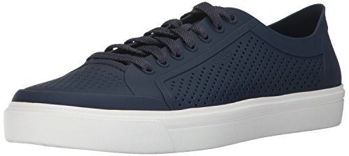 Crocs Men's Citilane Roka Court Fashion Sneaker, Navy/White, 9 M - Blue Roka