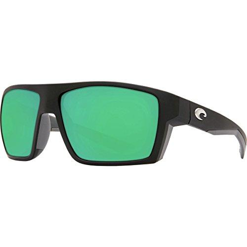 Costa del Mar Men's Bloke Polarized Iridium Square Sunglasses, Matte Black + Matte Gray, 61.2 - Costa Bloke Mar Del