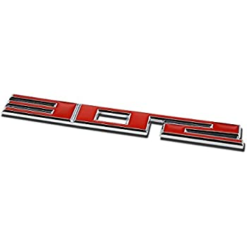 "Metal Emblem Decal Logo Trim Badge ""302"" (Red & SIlver)"