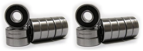 16 Skate ROLLER HOCKEY Bearings PRECISION ABEC 7 BLACK Hockey Bearings
