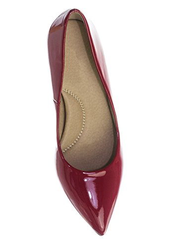 Heel City Coen Pump Inner Super Cushioned Pointy Memory Classified Red h Sole Foam Toe Lipstick Comfort Medium High Cr8C7f