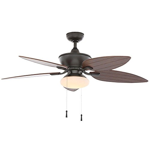 Hampton Bay Edgewater Ii 52 In. Indoor/outdoor Natural Iron Ceiling Fan