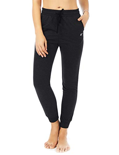 EZRUN Women's Jogger Pants Sweatpants Workout Lounge Yoga Sweat Pants with Pockets,Black,XL