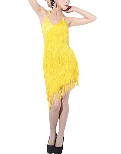 Dance Recital Costumes 2016 (whitewed Latin Dance Workout Recital Costume Clothes Dress Dancewear 2016 Yellow)