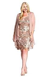 R&M Richards Mother of Bride Formal Short Dress