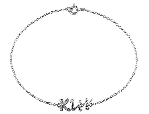 0.04 CT Diamond TW Bracelet With Chain Silver - 0.04 Ct Tw Diamond