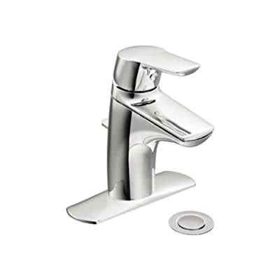 Moen 66810 Single Handle Bathroom Faucet with 50/50 Waste Assembly from The Method Collection
