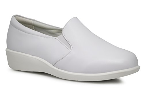 Hmny02 On Harmony Slip Wide Medical White Waitress Shoes Width Nurse Mules Women Clogs Loafers Work tqqrFa6x