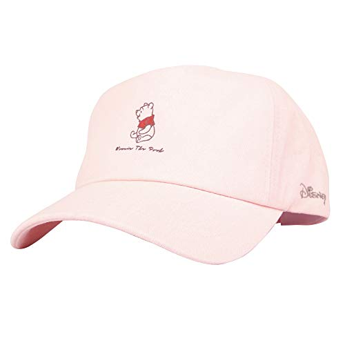 Winnie The Pooh Cotton Cap - WITHMOONS Disney Winnie The Pooh Baseball Cap Rubber Patch Hat CR1633 (Pink)
