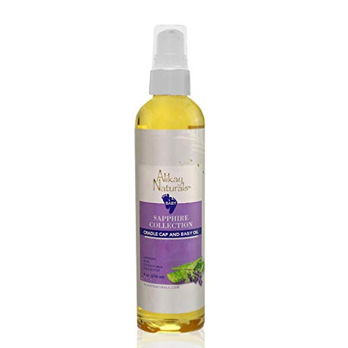Alikay Naturals Baby Sapphire Cradle Cap and Baby Oil Natural Sweet Almond Oil, Pumpkin Seed Oil 4 Ounce ()
