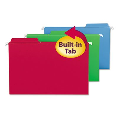FasTab Hanging Folders, Legal, Assorted, 20/Box, Sold as 18