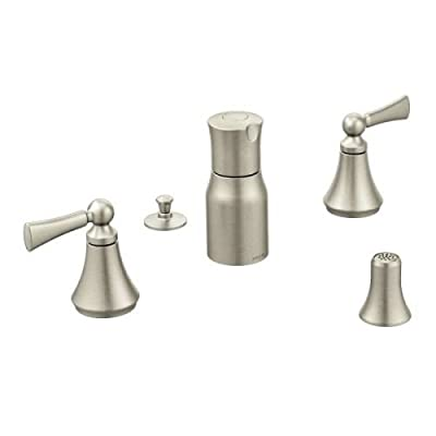 Moen T5245 Wynford two-handle bidet faucet (valve not included), Chrome