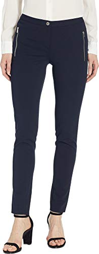 Calvin Klein Women's Zip Pocket Crepe Pants Navy 12 28