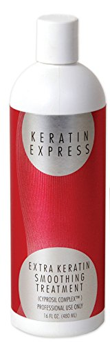 Keratin Express Extra 16 fl oz Professional Hair Smoothing Treatment up to 6 weeks just for fine Hair by Keratin Express factory. Do not use it on pregnant or nursing women and children. by Keratin Express