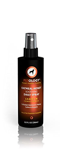 Conditioner For Dogs - Oatmeal Honey Soothing Daily Spray - Leave-In Conditioner To Ease Brushing and Combing - Creamy Vanilla & Honey Scent - 8 oz