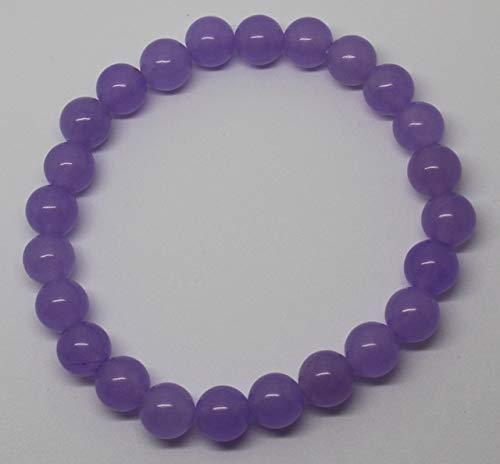 Calvas 6-12mm Lavender Jades Bracelet Round Jewelry Making Beads 7.5