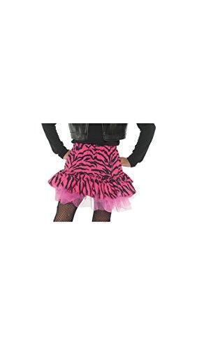 Little Girl's 80's Retro Flashback Costume Zebra Skirt - Pink, Medium (Pat Benatar Costumes)