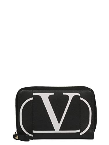 Valentino Women's Rw0p0p79kzqner Black Leather Wallet for sale  Delivered anywhere in USA