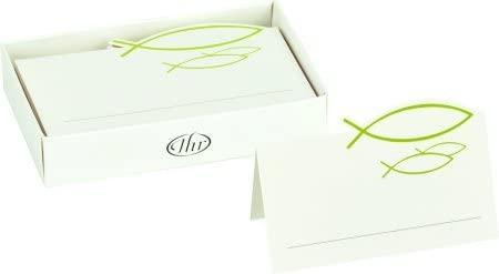 Mesa tarjeta Confirmación Comunión Bautizo verde claro, 12 ...