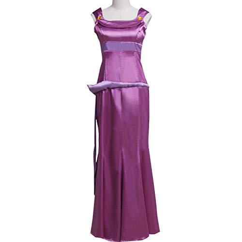 Women Purple Princess Dress for Megara Cosplay Costume Fancy Ball Gown Dress Halloween (Custom Made) ()