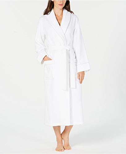 Charter Club Luxe Terry Piped Wrap Robe Bright White Size Large ()