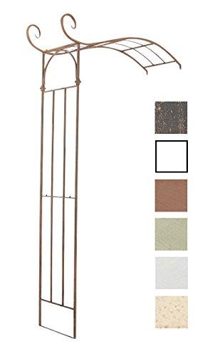 CLP halbrunder Rosenbogen JASMIN zur Wandbefestigung, aus stabilem Eisen, Durchganghöhe/-breite: 222 cm / 135 cm, aus bis zu 6 Farben wählen antik braun