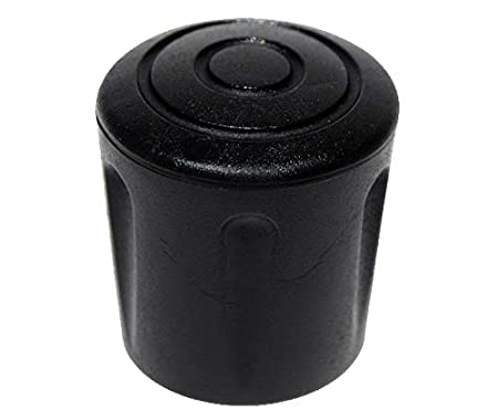 ajile Imported Round Ferrule Bush Tip Shoes for Chair Tubular Furniture Walking Stick in Black Rubber for 1 Inch (25 mm) Diameter Tubes - 4 Pieces - EVS125x4