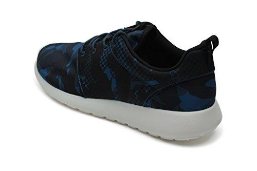 1352a9b1094 Nike Mens Rosh One Print BRIGADE BLUE SQUADRON BLUE OBSIDIAN BLACK 655206-
