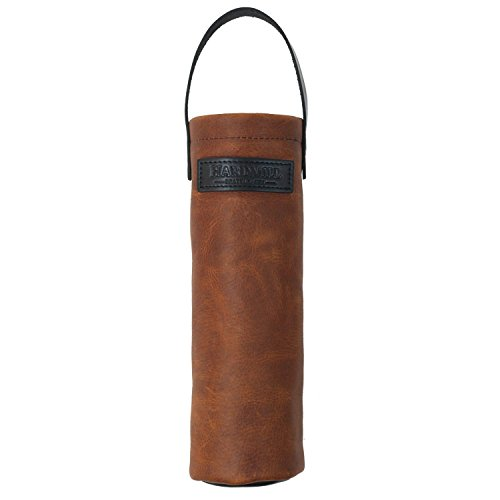 Wine Tote - Leather - Cognac - Made in USA ()