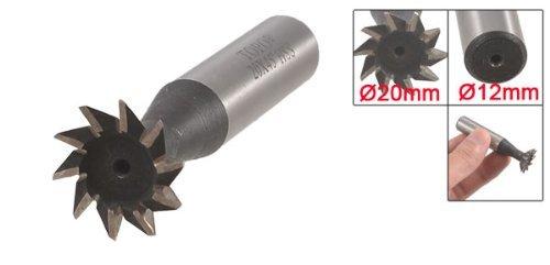 DealMux Woodwork 20mm Cutting Dia 45 Degree HSS Dovetail Milling Cutter