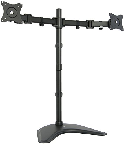 "VIVO Dual Monitor Extra-Tall Free-Standing Desk Mount Stand / Holds 2 LCD Screens up to 27"" (STAND-V012P)"