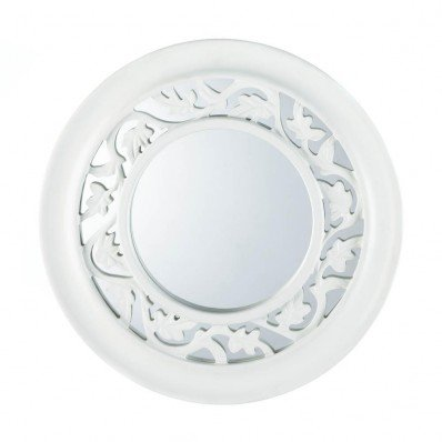 Koehler Home Decor Eastwind Gifts 10016672 White Ivy Wall Mirror Smart Living