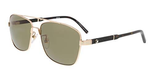 Montblanc MB589S-F 28H Gold Rectangular Sunglasses for ()