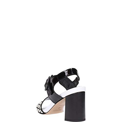 Nero Donna Sandalo Jeannot 51078 Bianco qS6wIE
