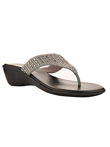Nectar Kicks Women's Lycra Party Casual Outdoor Daily Collage Office Formal Ethnic Premium Embroidery Heel Sandal