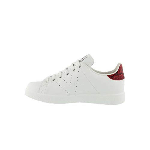 2 Girls Victoria US Leather Shoes M Casual White Red xgYaOqSYn
