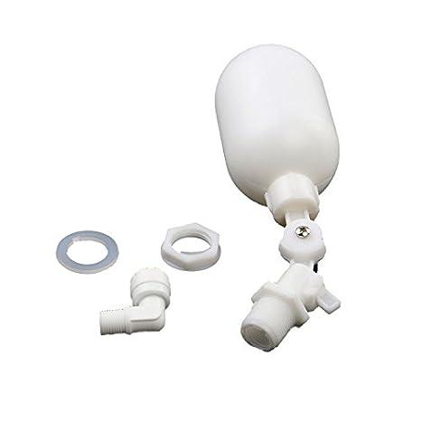 Xpccj - Válvula de Flotador con Sensor de Nivel de Agua Líquida, Blanco, Tamaño Libre: Amazon.es: Hogar