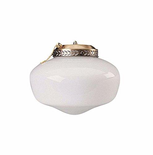 BALA GIDDS-103636 103636 Ceiling Fan Light Kit, Schoolhouse Globe, Polished Brass, Uses 1 13W Fluorescent Medium Base Lamp