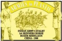 Boxer Rebellion China 1900 Indian Army Cavalry 1st Skinners Horse (5 Mounted) 1/32 Armies in - Indian Boxers