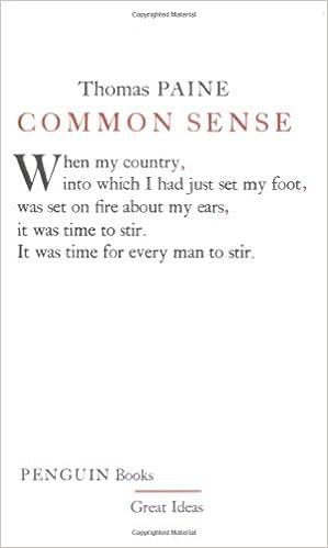 common sense penguin great ideas thomas paine 9780143036258